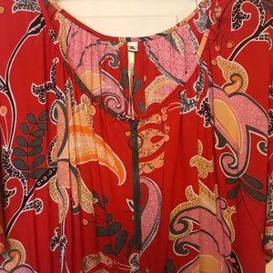 NWT Uncle Frank Elastic Waist Pattern Dress Sz XL